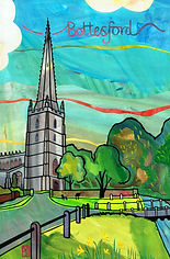 bottesford church and the daffodils vane
