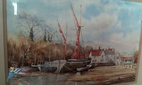 Barges at Pin Mill by Mike Weston