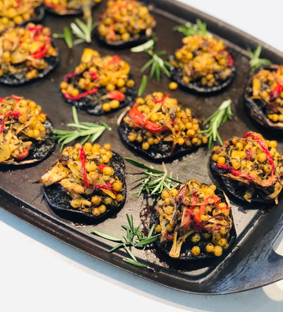 Grilled Stuffed Mushrooms with Sautéed Herbs & Persian Lime