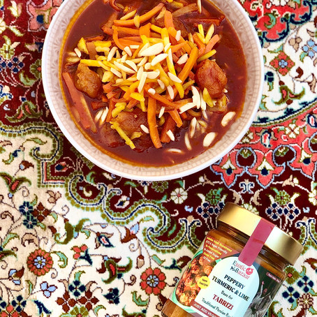 Turkish carrot and parsnip stew (Khoresh havij Tabrizi)