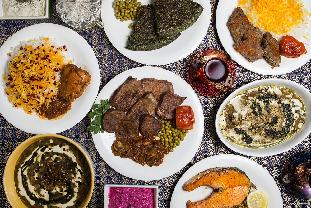 North Iranian cuisine is diverse with lots of nuts and dried fruit