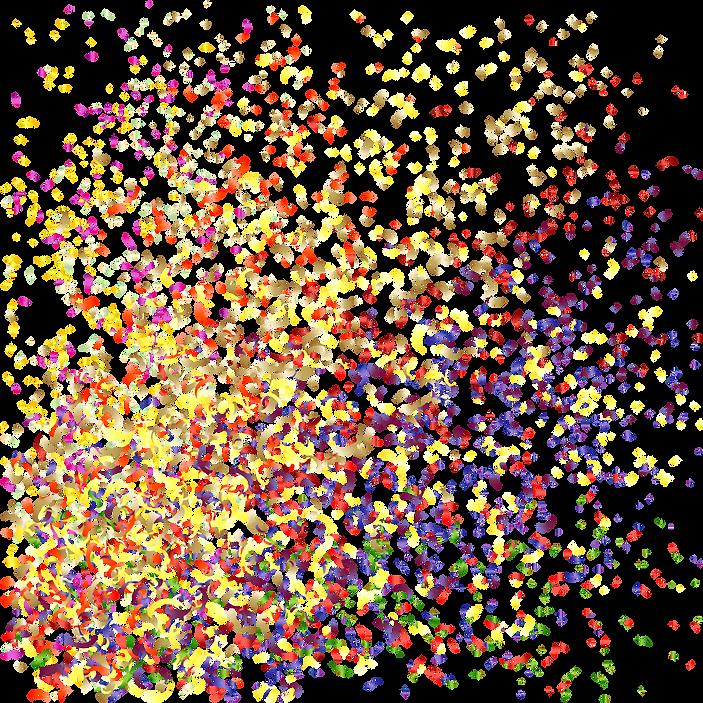 Explosão confetti