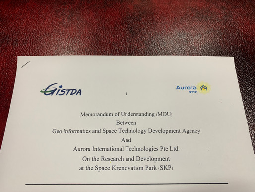 Aurora Signs Memorandum of Understanding with GISTDA and Opens an Office in SKP