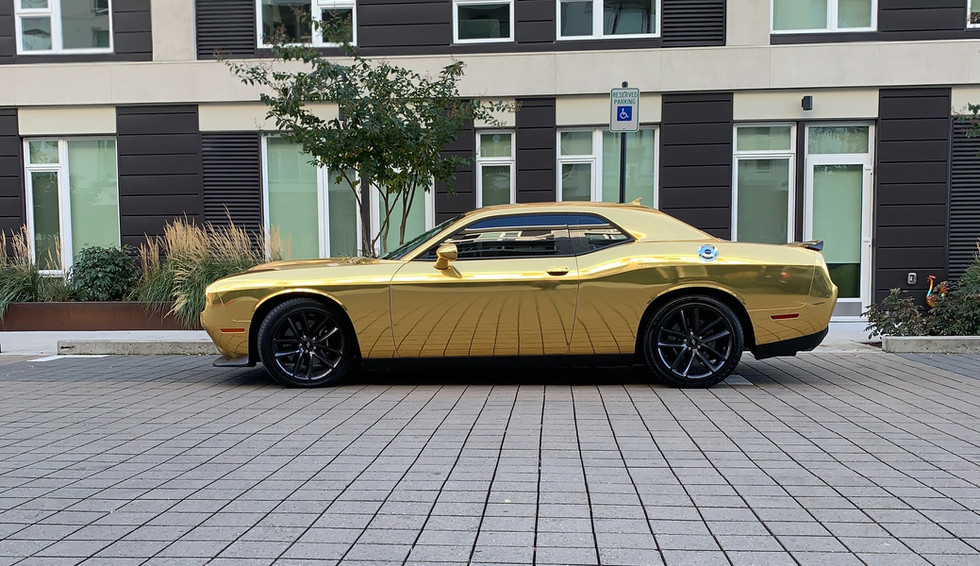 Challenger Gold Chrome Side Shot