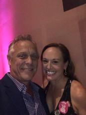Auctioneer Ken Buhler with Yvette Bonanno-Tharp