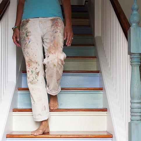 Lisa painted stairs.jpg