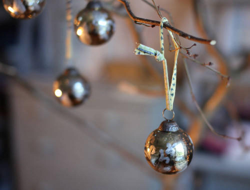 Antique glass baubles