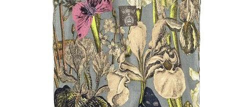 Grey iris botanical bag
