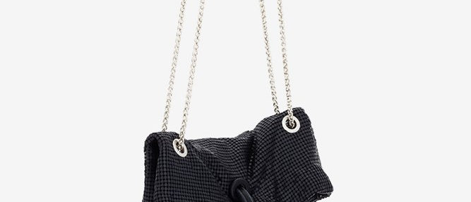 Slouchy evening bag