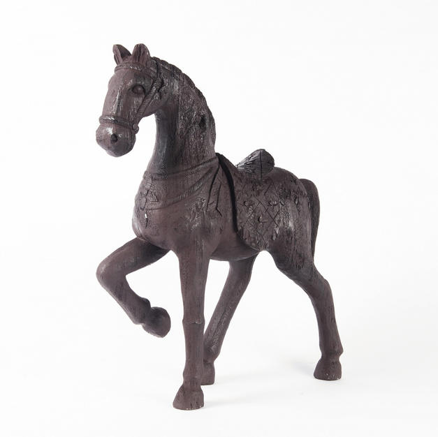 Large ornamental wooden horse