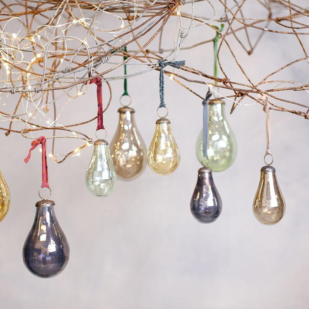 Glass pear baubles