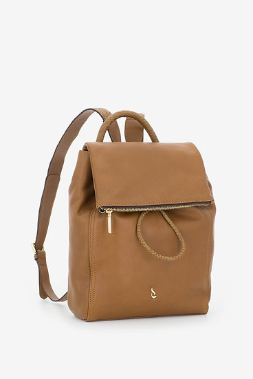 Drawstring leather backpack
