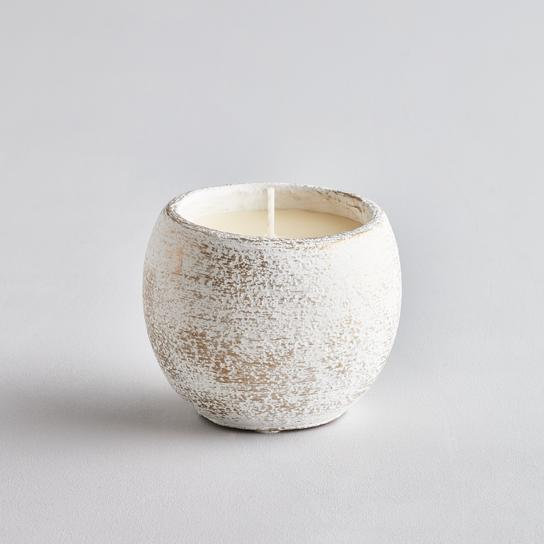 Winter Thyme gold brushed pot