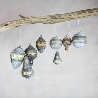Gold leaf unique baubles £6 or set of 4 for £20