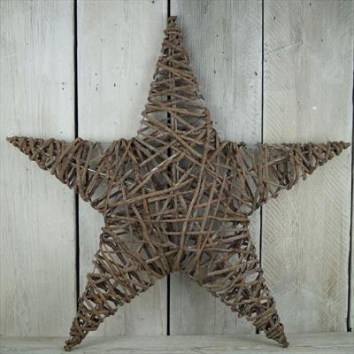 60 and 80cm wicker stars £30 and £45