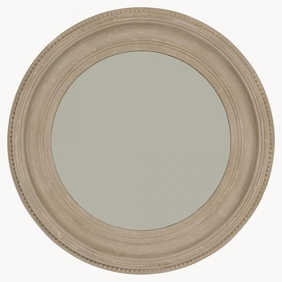 Light grey large round mirror