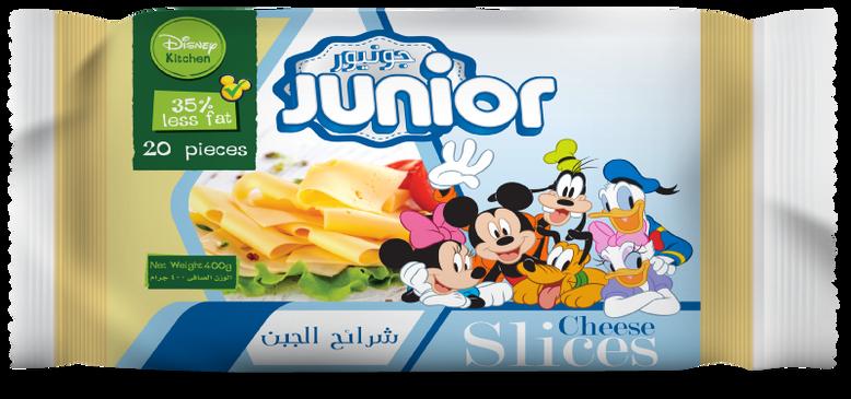 Junior Less Fat Slice Cheese