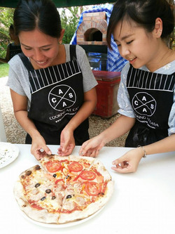 wood fired oven pizza course