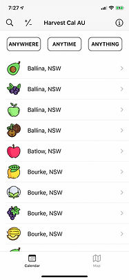 australia whv working holiday harvest calendar fruit picking visa second farm ios app iphone appstore