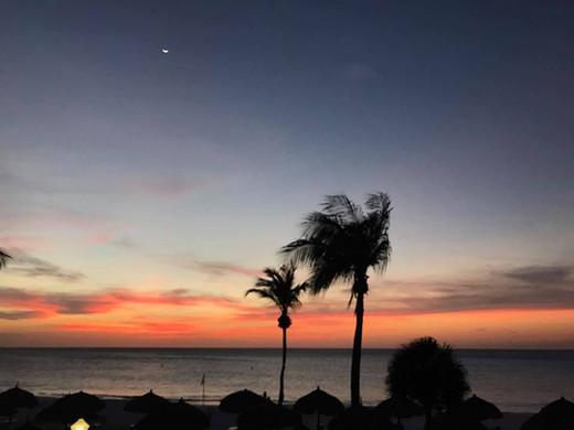 Sunset over Aruba