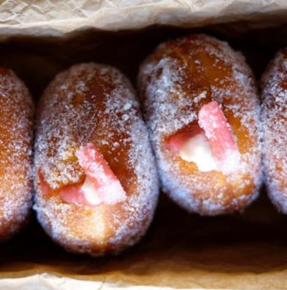 Rhubarb Anglaise Donut