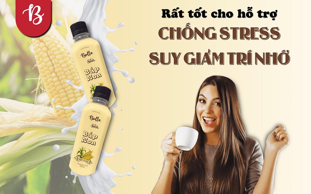 Tác dụng tuyệt vời của sữa bắp chống stress và suy giảm trí nhớ