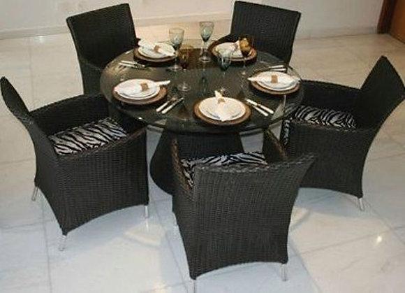 Conjunto mesa Redonda com 5 poltronas