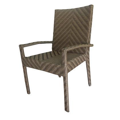 Cadeira  com braço trama escamada cd 12 s.es