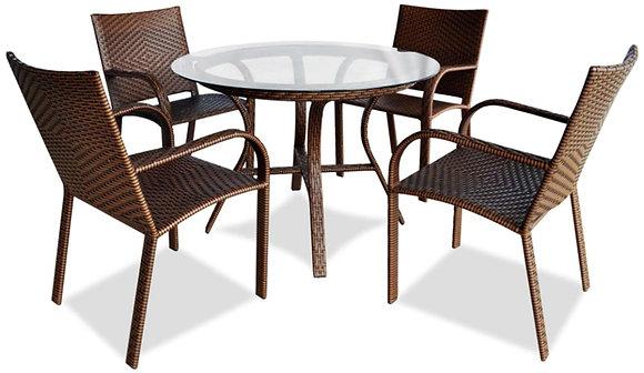 Conjunto mesa Redonda com 4 cadeiras