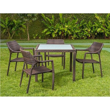 Conjunto mesa Quadrada com 4 cadeiras thaity