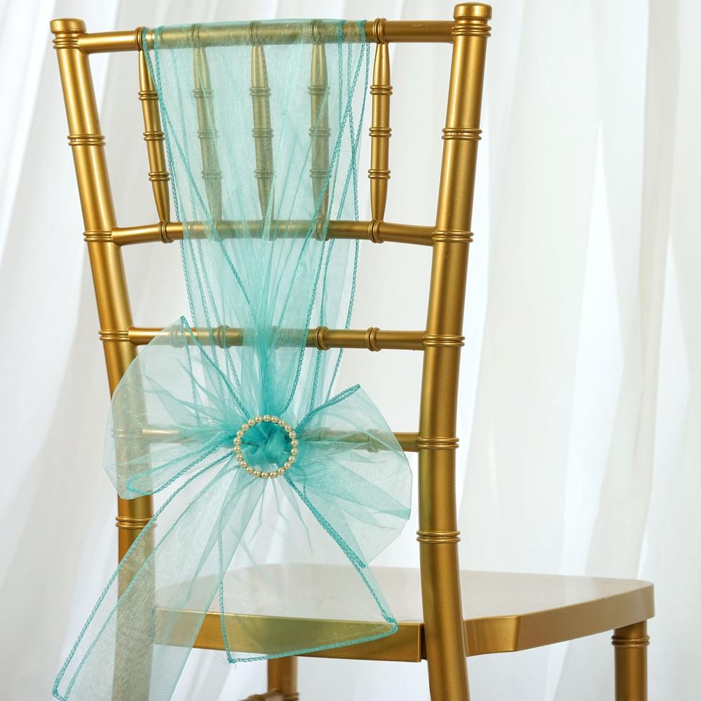 Turquoise Organza Sash