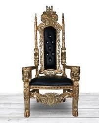 Lion Head Throne Chair (Black)