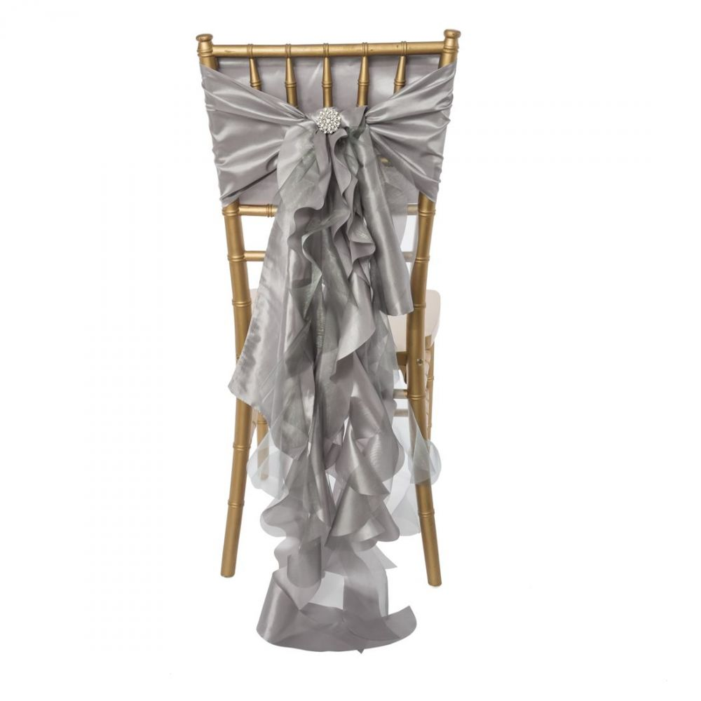 Silver Curly Willow Sash