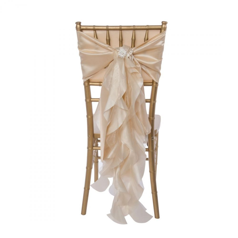 Champagne Curly Willow Sash