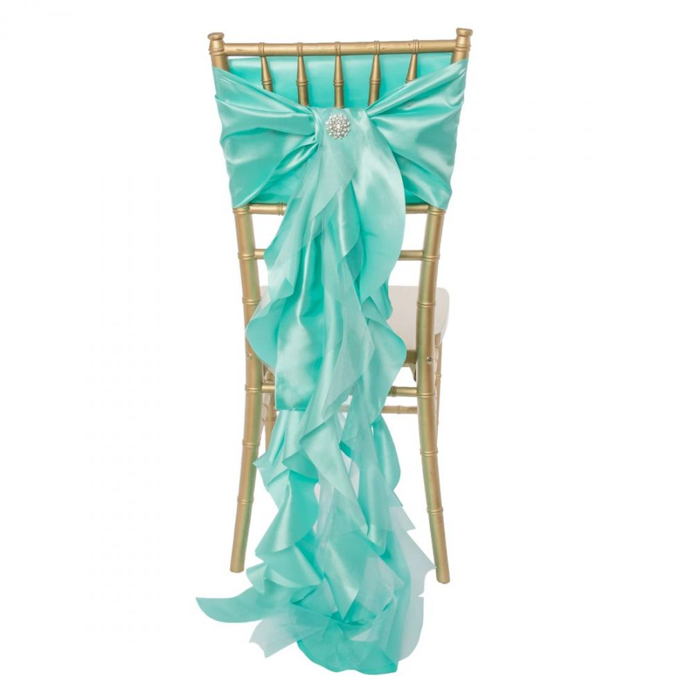 Tiffany Blue Curly Willow Sash
