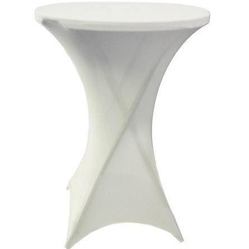 White Spandex Table Cover
