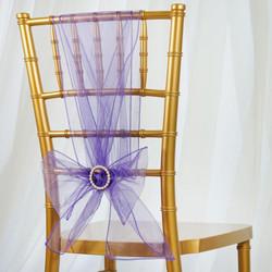 Purple Organza Sash