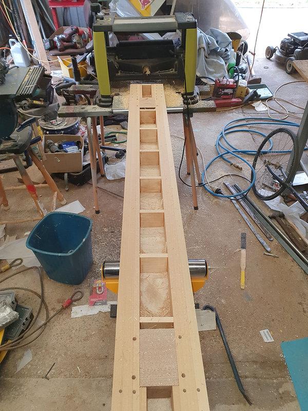 Machining the main spar