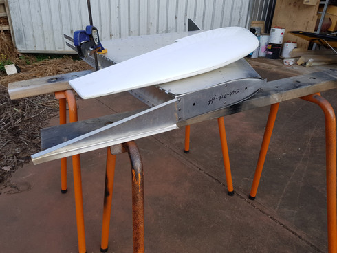 Finishing the empennage.