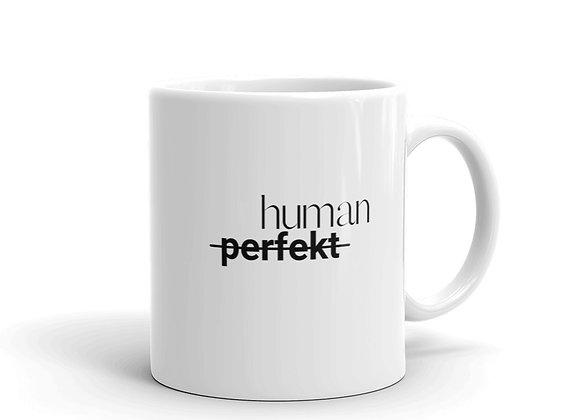 Tasse human weiß
