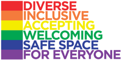 O & A key words - diverse, inclusive, accepting, welcoming, safe space for everyone