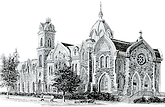 Artist sketch of The Park Church building