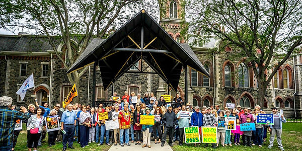 Climate Justice Supporters - group photo in Wisner Park