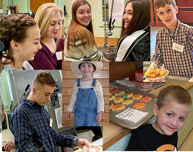 Collage of Park Church Youth volunteering in different ways