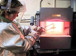 Crucible in 2000 Degree Furnace