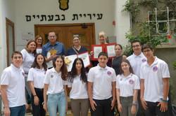 Welcoming at the Mayer of Givatayim Mr Ran Kunik