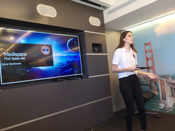 Presenting at the US public diplomacy Office
