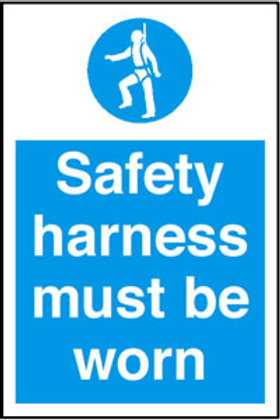 Safety Harness Must Be Worn Sign/Sticker