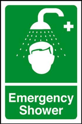 Emergency Shower Sign/Sticker