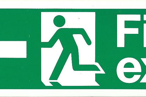 Fire Exit (Arrow Left) Sign